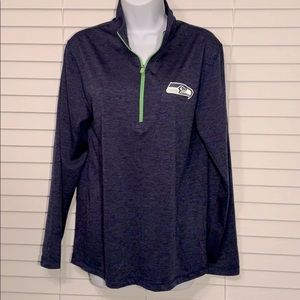 Majestic cool base 1/2zip Seahawks top size S/CH/P